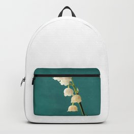 Botanical Flower Photograph - Lilies of the Valley Backpack