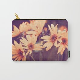 Gold Floral Carry-All Pouch