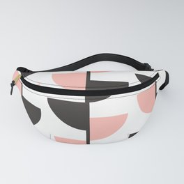 Peach Slices - Summer Peach Pink Contemporary Geometric Fanny Pack