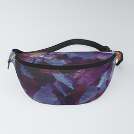 Blue Gold Purple Crystal Low Poly Geometric Triangles Fanny Pack