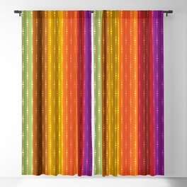 Jewel Tone Color Stripes Blackout Curtain