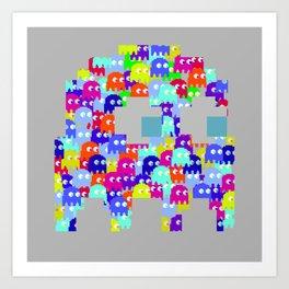 Pac Man Ghost Art Print