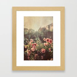 French country village Framed Art Print