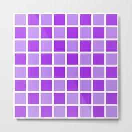 Modern Checkers (Purple Haze) Metal Print