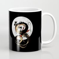 dragon ball Mugs featuring Black Dragon by TxzDesign