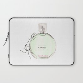 Green parfum with girl Laptop Sleeve