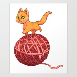 Kitten On Yan Art Print