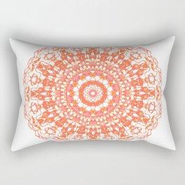 Mandala 12 / 2 eden spirit orange Rectangular Pillow