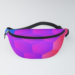 Blue-Purple-Red Polyhedron Fanny Pack