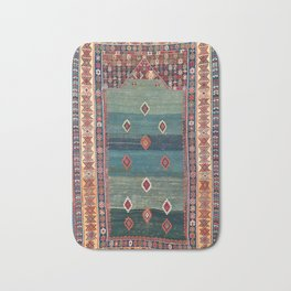 Sivas Antique Turkish Niche Kilim Print Bath Mat