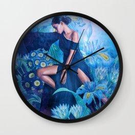 Ramona in the Garden of Dreams Wall Clock