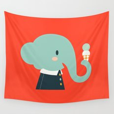 Mister Elephant Wall Tapestry
