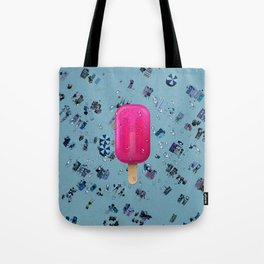 Pink Ice Tote Bag
