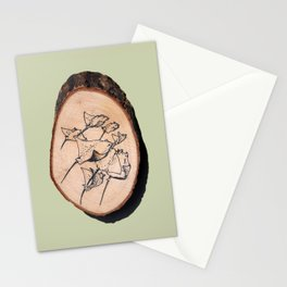 Devil Ray Wood Slice Stationery Cards