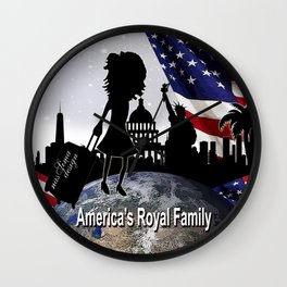 Americas Royal Family Wall Clock