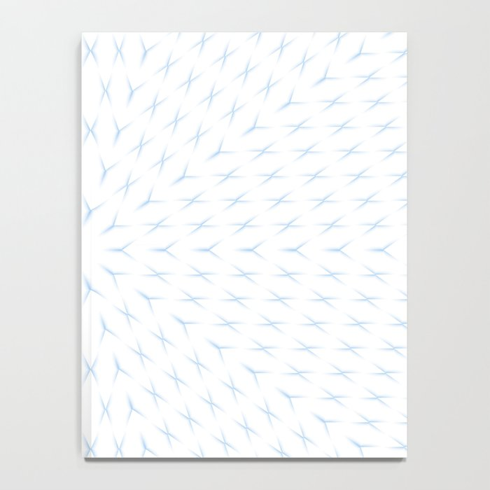 PCT2 Fractal in Ice Blue on White Notebook