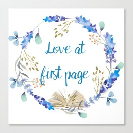Love at first page Canvas Print