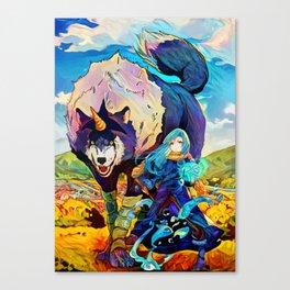 Colorful Doggo Canvas Print