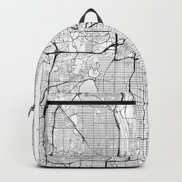 Minneapolis Map White Backpack