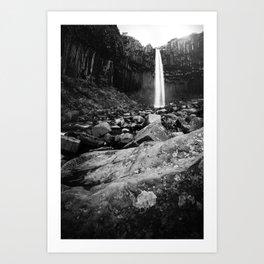 Svartifoss Waterfall Iceland Art Print
