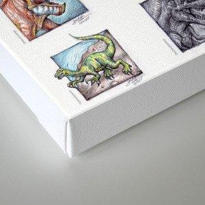 Dinosaurs Compilation Canvas Print