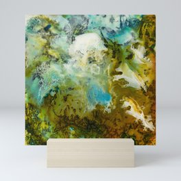 Two Worlds Abstract Colorful Art Mini Art Print