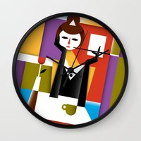 breakfast Wall Clocks featuring Breakfast by Szoki
