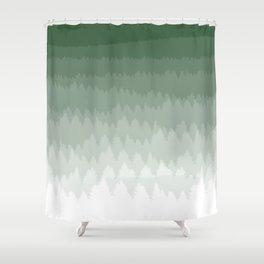 Green Ombré Forest Shower Curtain