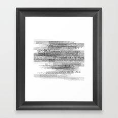 Names of God Framed Art Print