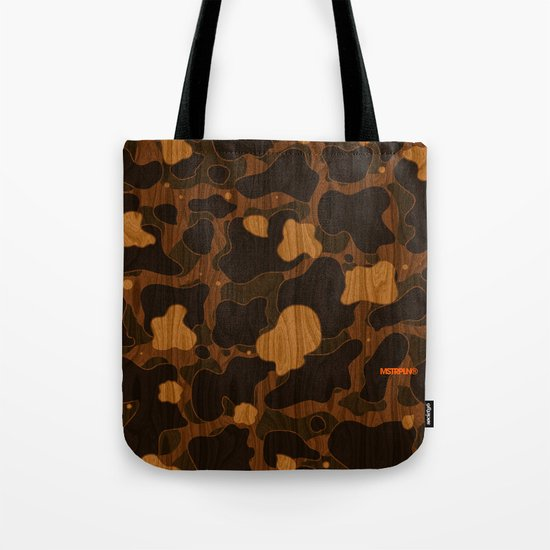Modern Woodgrain Camouflage / Duck Print Tote Bag