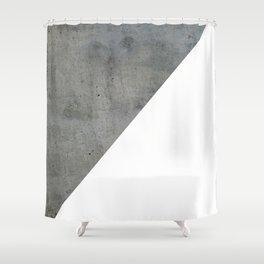 Concrete Vs White Shower Curtain