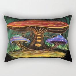 A Mushroom World Rectangular Pillow