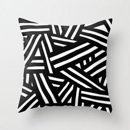 Monochrome 01 Throw Pillow