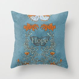 Butterfly Hope Throw Pillow