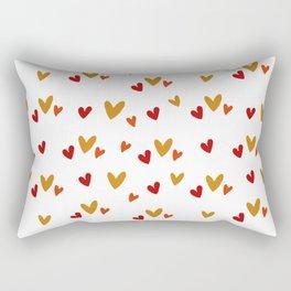 Hearts Pattern Rectangular Pillow