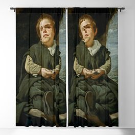 "Diego Velázquez ""Portrait of Francisco Lezcano"" Blackout Curtain"