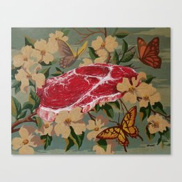 Butterflies, Blossoms and Beef Canvas Print