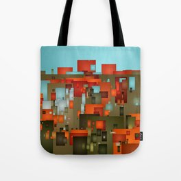 Abstract city in color by lh Tote Bag