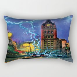 Back to the Future, MKE style. Rectangular Pillow