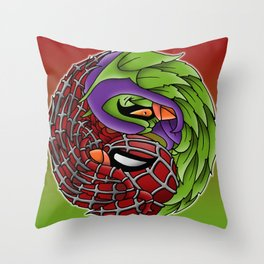 spider yin yang Throw Pillow