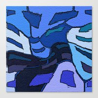 palo alto Canvas Prints featuring Blue Alto  by Jane Holloway