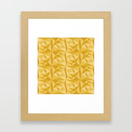 Beautiful abstract yellow pattern Framed Art Print