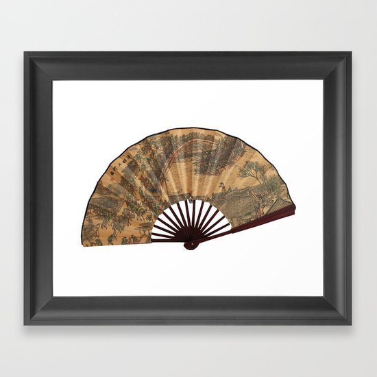 Japanese fan Framed Art Print