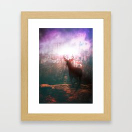 The City of Red Deer by GEN Z Framed Art Print