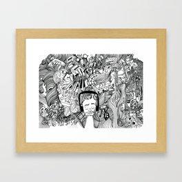Headphone Escape Framed Art Print