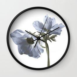 Single flower print - Blue Poppy Wall Clock