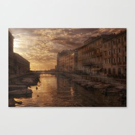 The Canal in Trieste Canvas Print