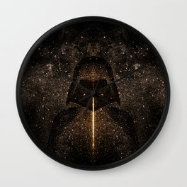 Force of light through the dark side Wall Clock