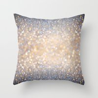 glitter Throw Pillows featuring Glimmer of Light (Ombré Glitter Abstract) by soaring anchor designs