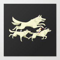 princess mononoke Canvas Prints featuring Princess Mononoke by Wharton
